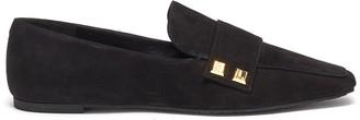 Stella Luna Stud embellished suede loafers