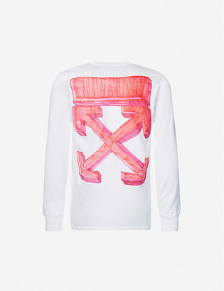 Off-White Marker long sleeve cotton-jersey T-shirt
