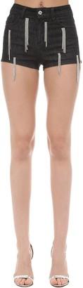 Amen Embellished Cotton Blend Shorts