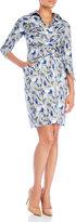 Samantha Sung Floral Wrap Shirt Dress