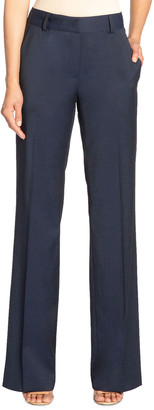 Santorelli Paola Full-Length Stretch Wool Trousers with Pockets