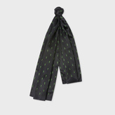 Paul Smith Men's Black 'Gufram Cactus' Print Silk Scarf