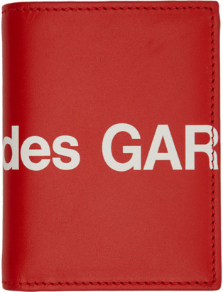 Comme des Garcons Wallets Red Huge Logo Bifold Card Holder