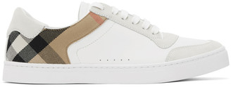 Burberry White Check Reeth Sneakers