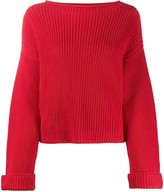 Semi-Couture Semicouture long sleeve ribbed knit jumper