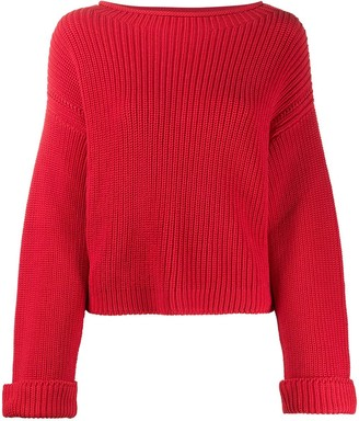 Semi-Couture Long Sleeve Ribbed Knit Jumper
