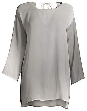 Eileen Fisher Women's Watercolor Silk Tunic
