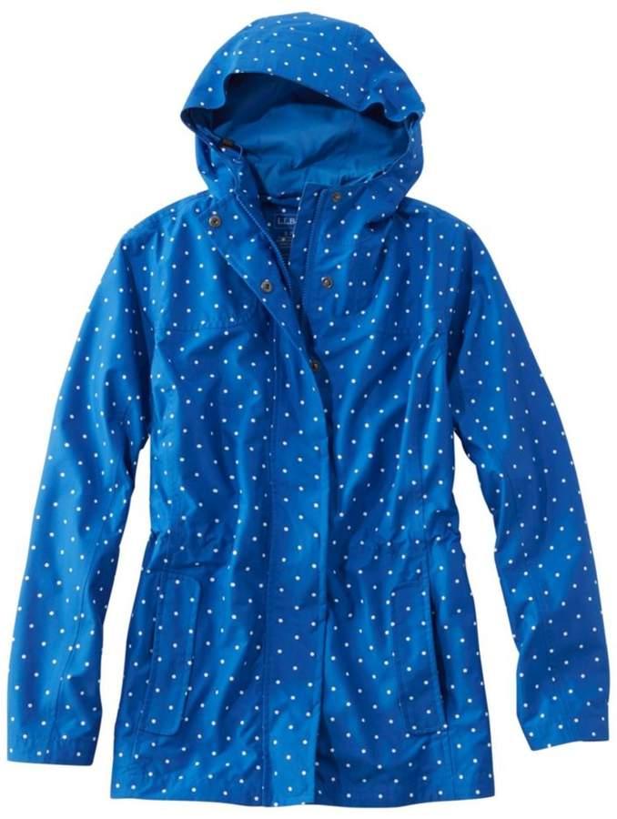 L.L.Bean Women`s H2Off Rain Mesh-Lined Jacket- Print
