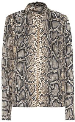 Victoria Beckham Snake-printed silk shirt