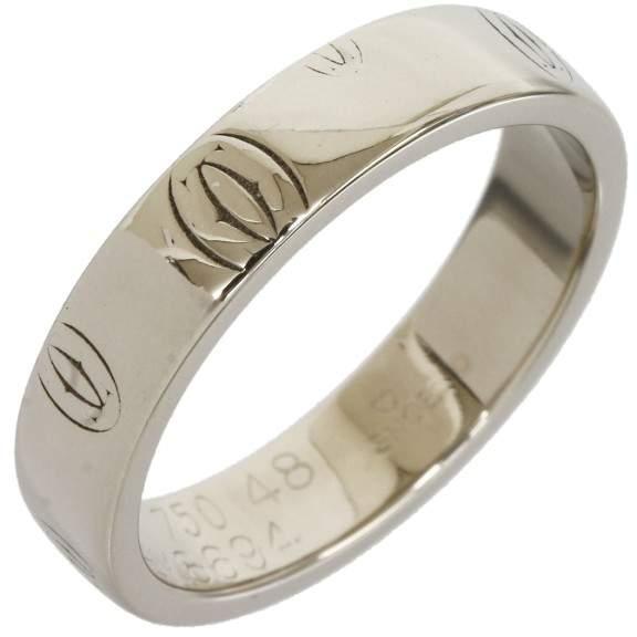 Cartier 18K White Gold Wedding Band Ring Size 4.75