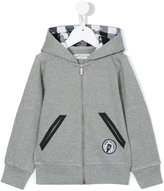 John Galliano hooded zip up sweater