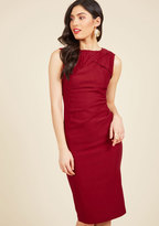 ModCloth A Portrait of Poise Sheath Dress in M