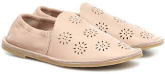 Acne Studios Perforated leather loafers
