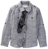 Sovereign Code Form Shirt & Tie 2-Piece Set (Toddler & Little Boys)