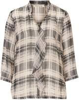 Betty Barclay Check chiffon blouse