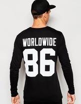 Huf Huf Audible Long Sleeve T-shirt With Back Print - Black