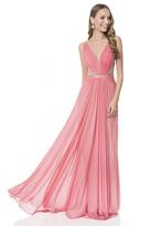 Terani Couture Shirred Ornate Strap Gown 1615P1313B