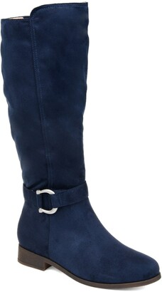 Navy Boot Wide Calf | Shop the world's