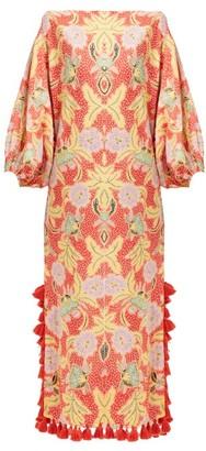 Rhode Resort Delilah Floral-print Cotton Midi Dress - Red Multi