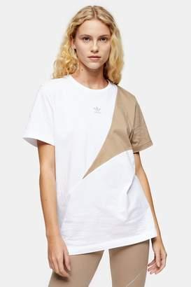 adidas Womens White Boyfriend T-Shirt By White