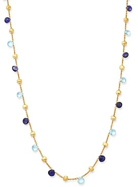 Marco Bicego 18K Yellow Gold Paradise Iolite & Blue Topaz Beaded Collar Necklace, 16