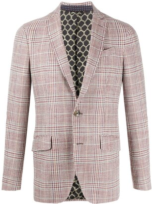 Etro Single Breasted Check Blazer