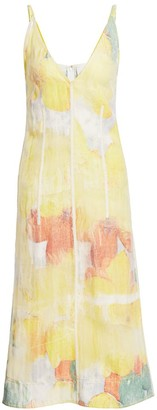3.1 Phillip Lim Transparent Frame Abstract Midi Dress