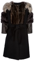 Lanvin mixed fur coat
