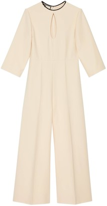 Gucci Wool silk jumpsuit with cut-out detail