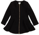 Milly Minis Girl's Emma Peplum Coat