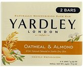 Yardley London Bar Soap, Oatmeal & Almond, 2 Count