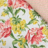 Laura Ashley Pink Yellow Floral Sherborne Set of Two Standard Quilted Pillow Shams