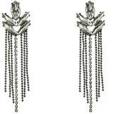 Oasis Diamante Leaf Earrings