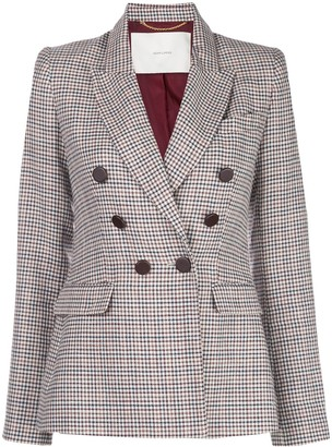 Adam Lippes Checked Double-Breasted Blazer