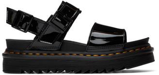 Dr. Martens Black Patent Voss Sandals