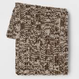 Threshold Cable Knit Throw Blanket - Gray