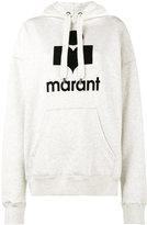 Etoile Isabel Marant Mansel logo print hoodie - women - Cotton/Polyester - 38