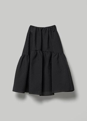 Cecilie Bahnsen Women's Rosemary Dress Withvoluminous Panel Skirt in Black Size 8