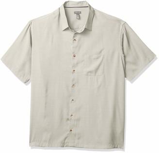 Van Heusen Men's Big & Tall Big Air Short Sleeve Button Down Grid Shirt