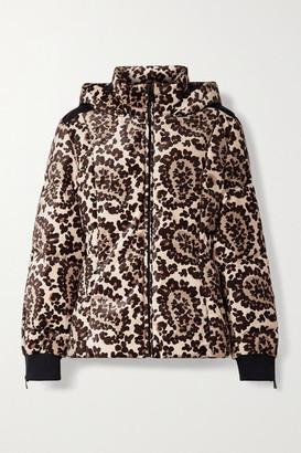 Fendi Printed Velvet Down Ski Jacket - Brown