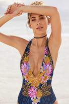 Out From Under Floral Plunging V Swimsuit