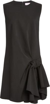 Carolina Herrera Knot-Detailed Wool-Blend Dress