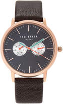 Ted Baker TE50291007 Rose Gold-Tone & Brown Watch