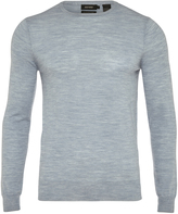 Oxford Merino Wool Crew Pullover Blue X
