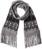 Joe Fresh Women's Metallic Fair Isle Knit Scarf