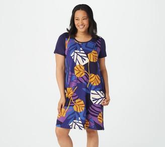 Stan Herman Printed Amalfi Sunset Summer Short Sleeve Dress