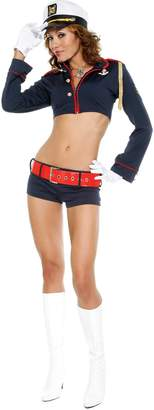 Forplay Women's Pin-Up Hat Gloves Top Belt Shorts