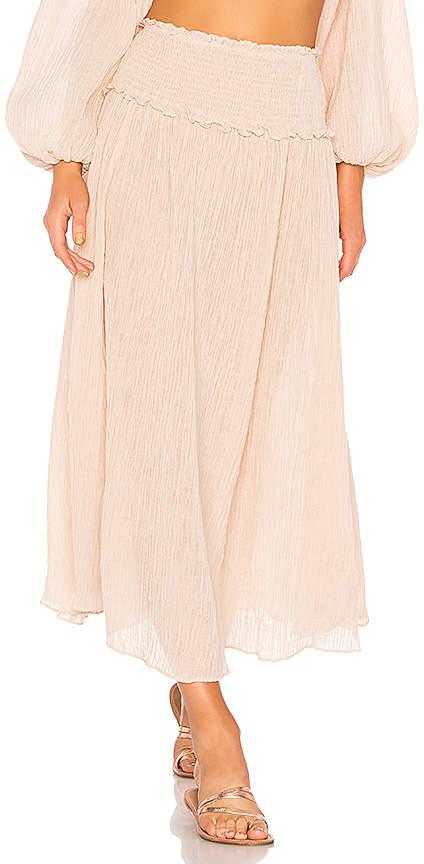 Zimmermann Bayou Shirred Long Skirt