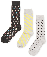 Happy Socks Diamond, Wavy & Dotted Socks (3 PK)