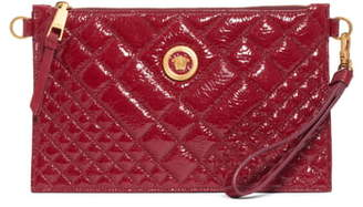 Versace First Line Tribute Patent Leather Crossbody Pouch